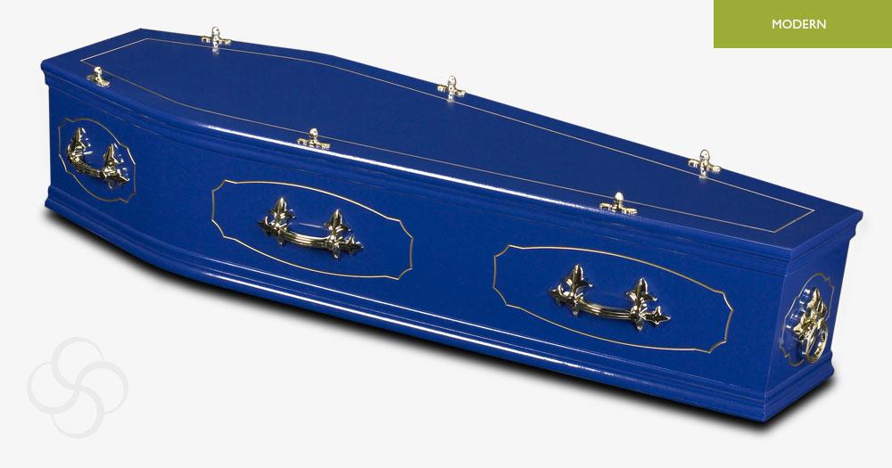 Blue Studio Modern Coffin