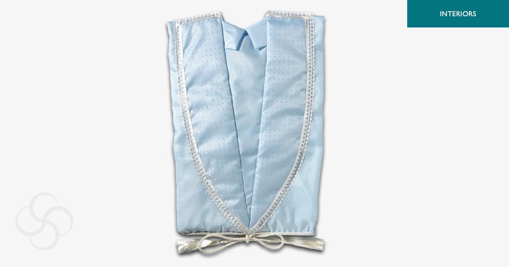 Blue Taffeta Gown