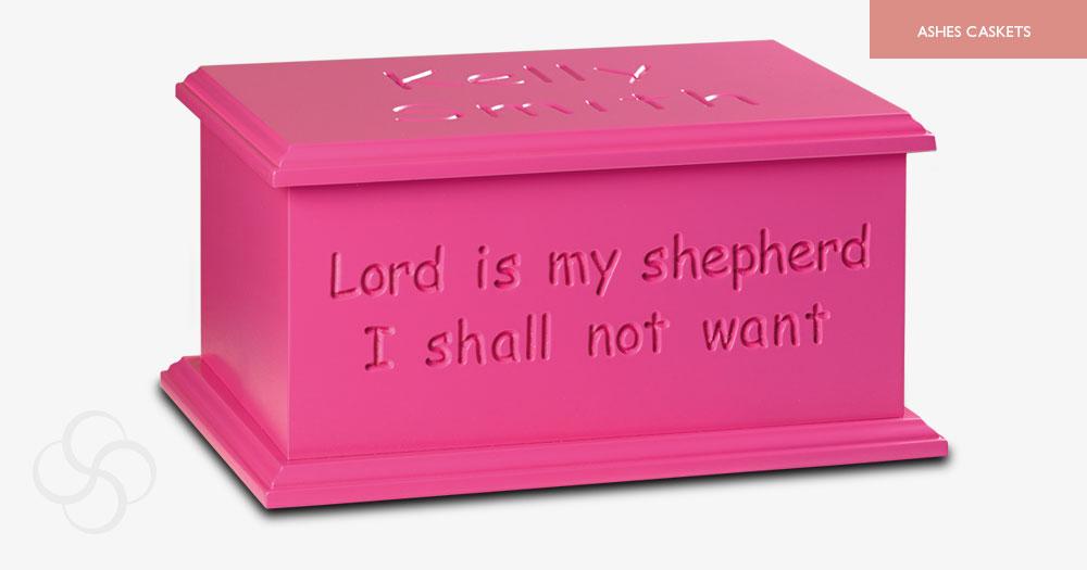 Bright Pink Artiste Ashes Casket
