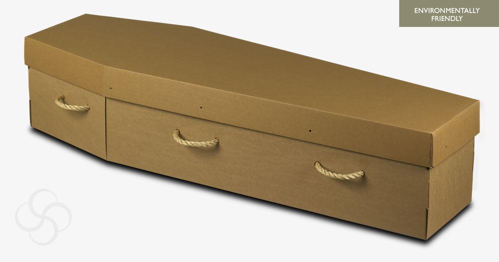Brown Cardboard Environmentally Friendly Coffin