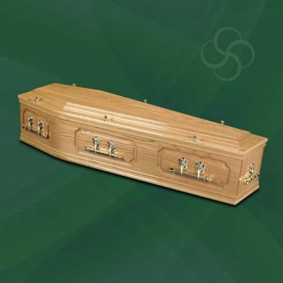 Buckingham Traditional Coffin Light Oak