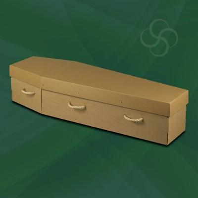 Cardboard Environmentally Friendly Coffin Brown
