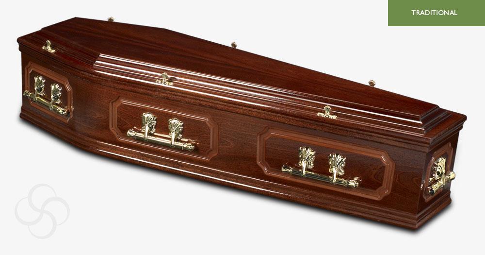 Dark Mahogany Richmond Traditional Coffin