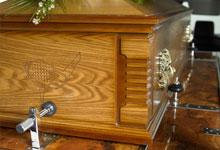 Artiste Britannia Casket fitted inside a standard UK hearse
