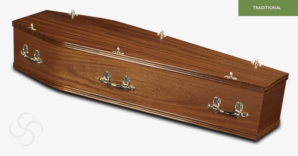 Light Mahogany Lincoln Traditional Coffin