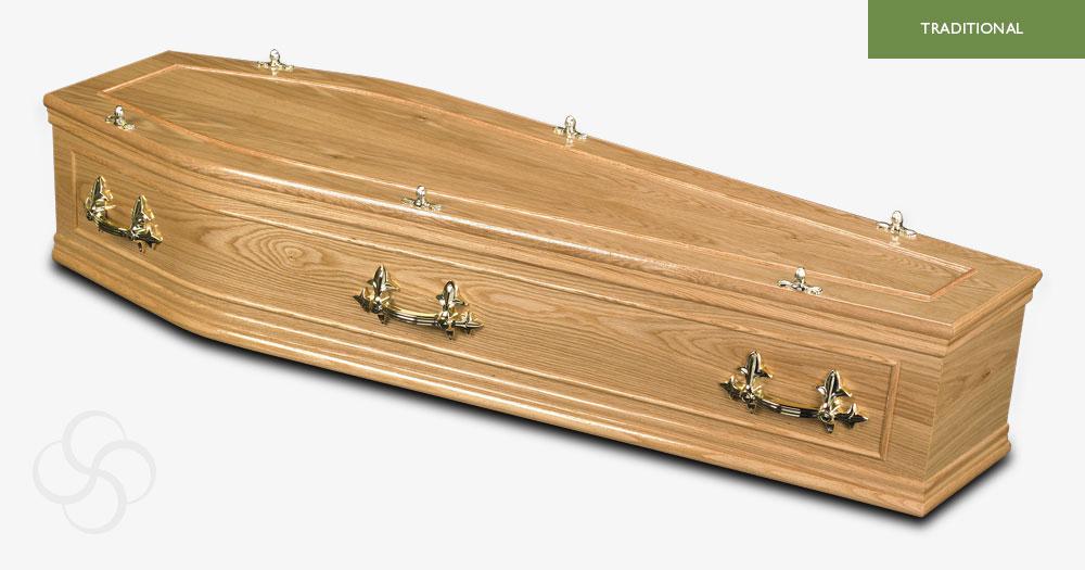 Light Oak Belmont Traditional Coffin