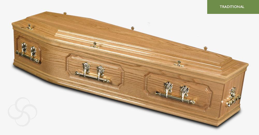 Light Oak Buckingham Traditional Coffin