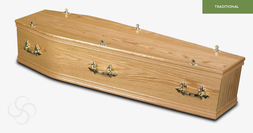 Light Oak Kensington Traditional Coffin