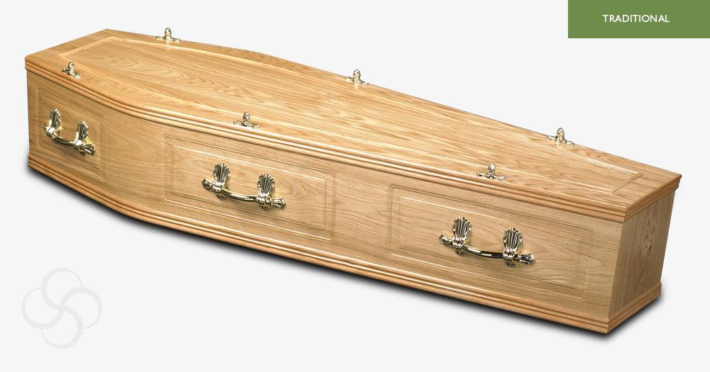 Light Oak Rutland Traditional Coffin