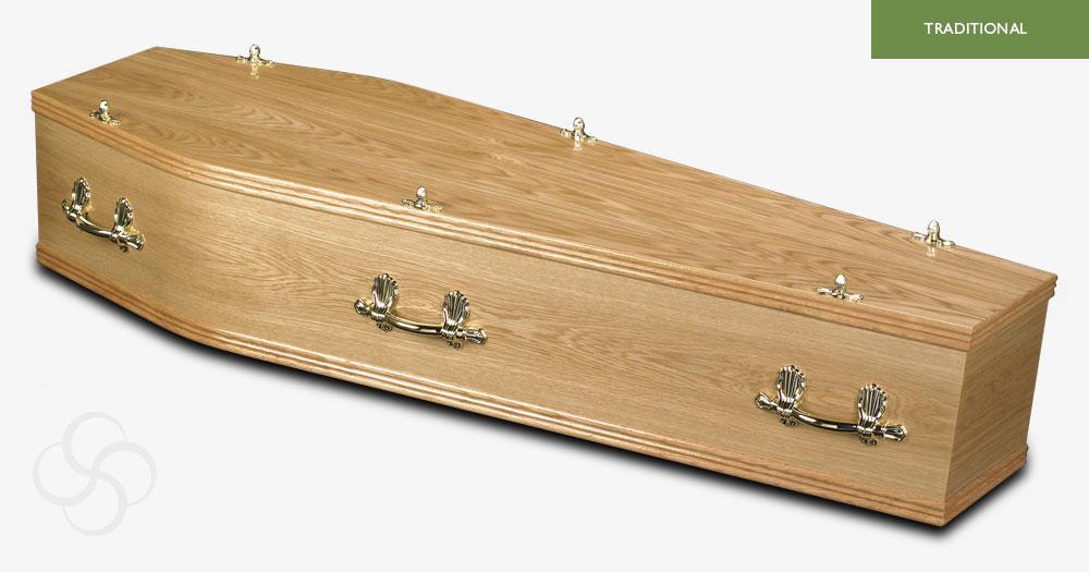 Light Oak York Traditional Coffin