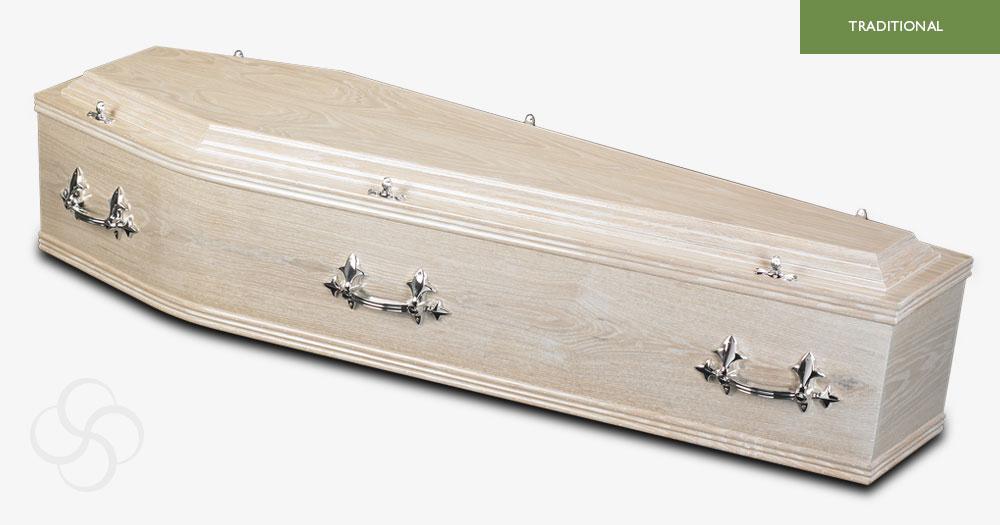 Limed Oak Windermere Traditional Coffin