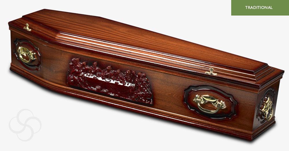 Medium Dark Mahogany Westminster Traditional Coffin