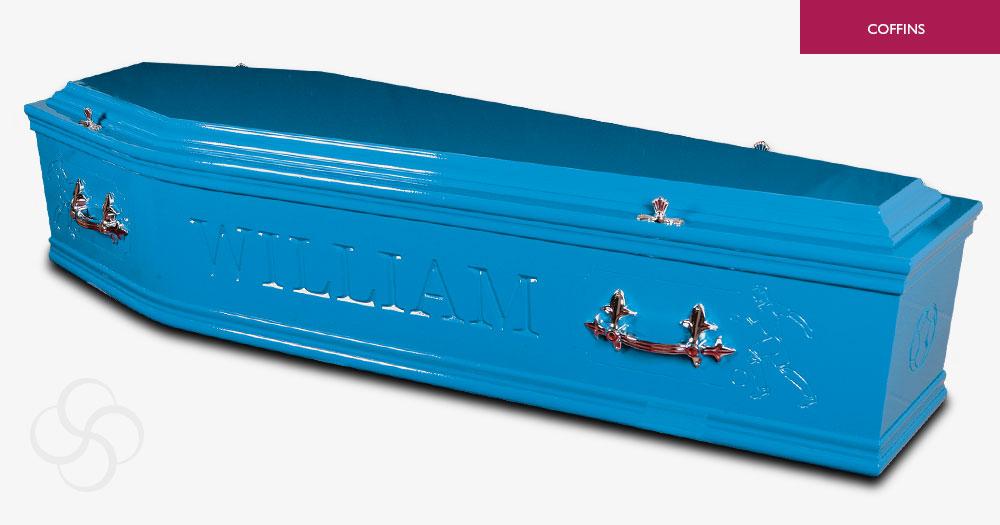 Mid Blue Artiste Coffin