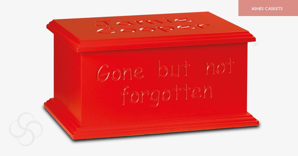 Red Artiste Ashes Casket