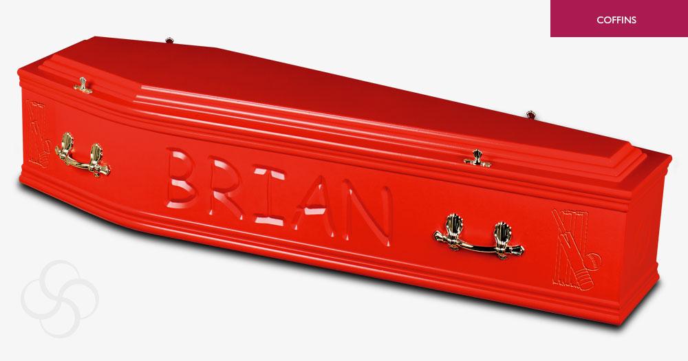 Red Artiste Coffin