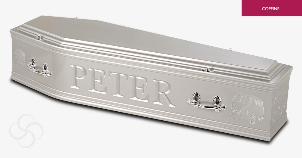 Silver Artiste Coffin
