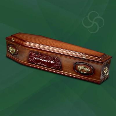 Westminster Coffin Medium Dark Mahogany