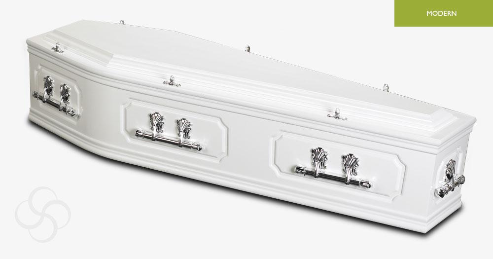 White Ambassador Modern Coffin