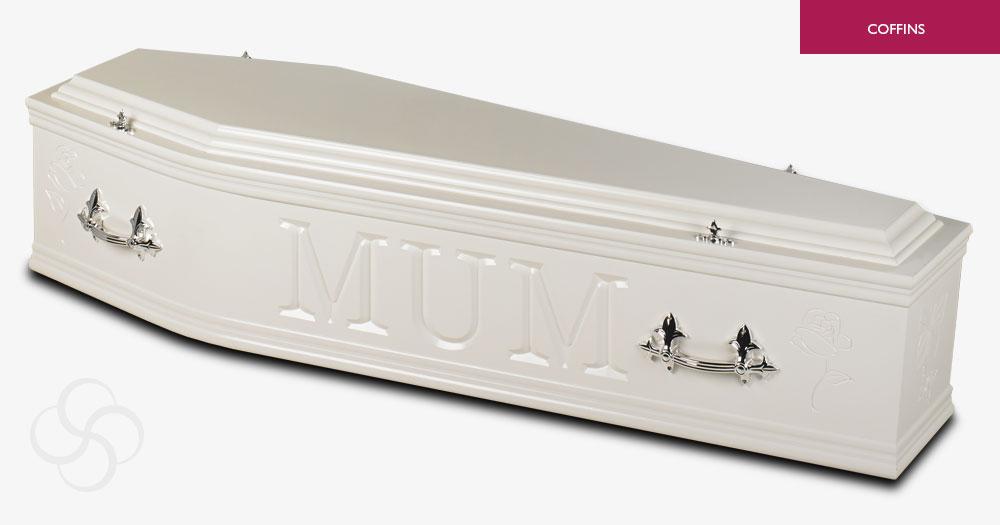 White Artiste Coffin