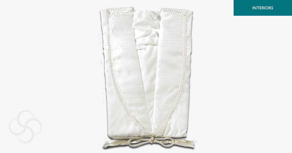 White Taffeta Gown