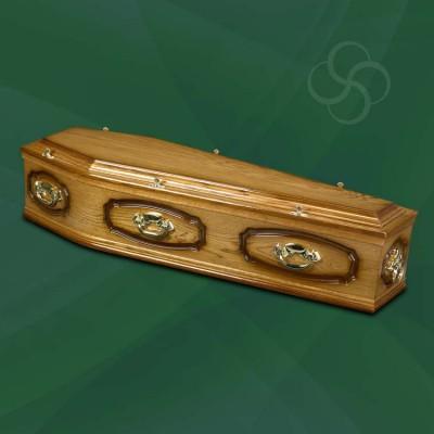 Windsor Coffin Medium Dark Oak