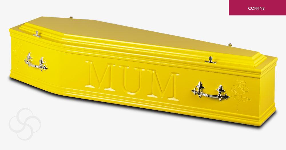 Yellow Artiste Coffin