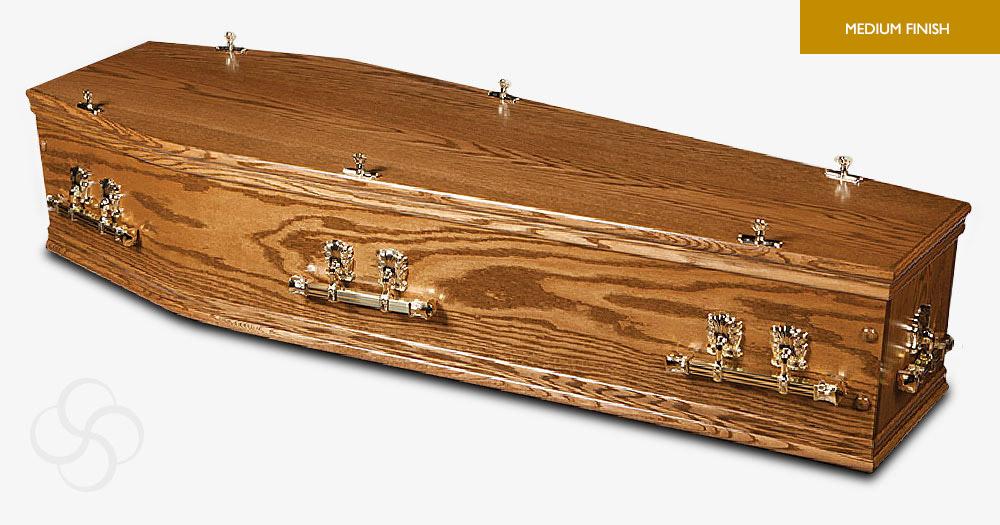 Antique Oak Cromwell Signature Coffin