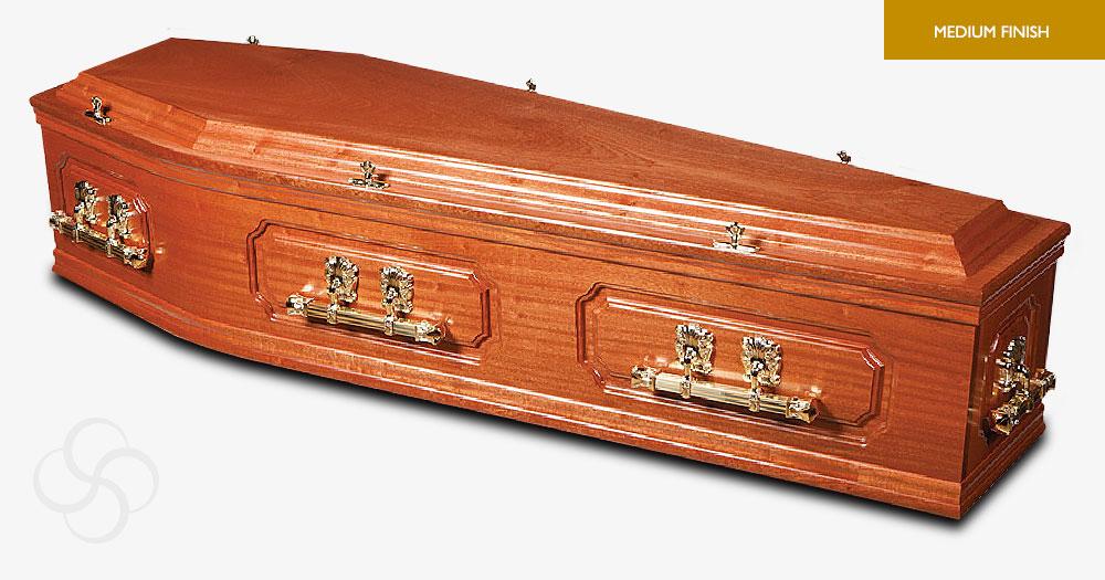 Cherry Mahogany Elgar Signature Coffin