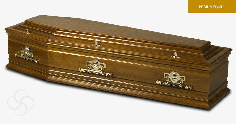 Medium Oak Marseille Signature Coffin