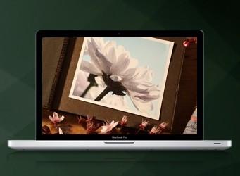 Laptop computer showing Steve Soult Limited video of Artiste coffins