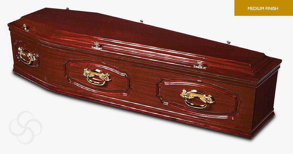 Plum Mahogany Wordsworth Signature Coffin