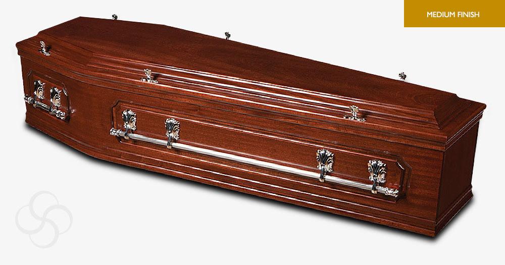Rich Mahogany Austen Signature Coffin