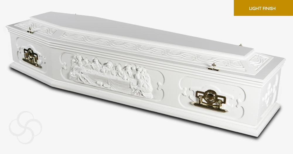 White Portofino Signature Coffin
