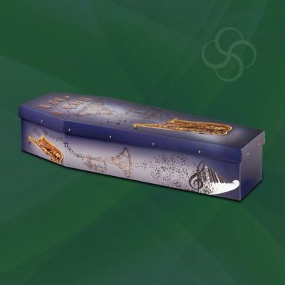 big band picture cardboard modern coffin