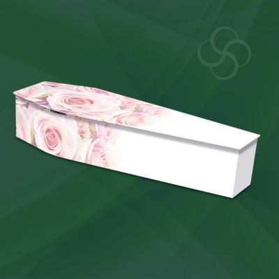 blushing roses picture woodern modern coffin