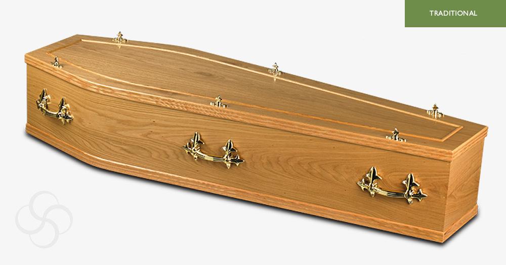light oak southwell traditional modern coffin