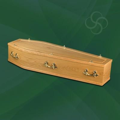 southwell traditional coffin light oak