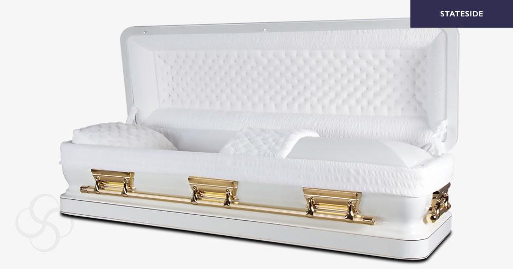 Jackson Stateside metal American casket
