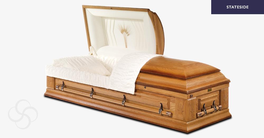 Okaland Stateside wooden American casket
