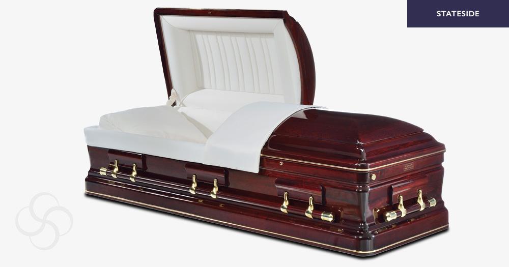 Sinatra Stateside wooden American casket